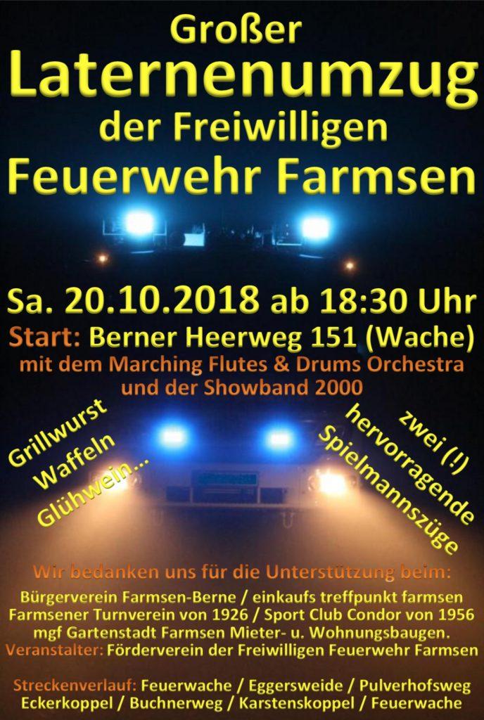 Laternenumzug @ Feuerwache Farmsen